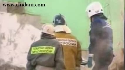 سالم ماندن کودک در انفجار ساختمان