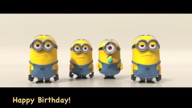 مینیون ها تولد مبارک رو میخونن تولدت مبارک کوین