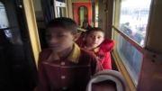 بازدید دانش آموزان از راه آهن مشهد