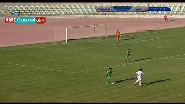 خلاصه بازی خیبر خرم آباد - آلومینیوم اراک (ویدیو)