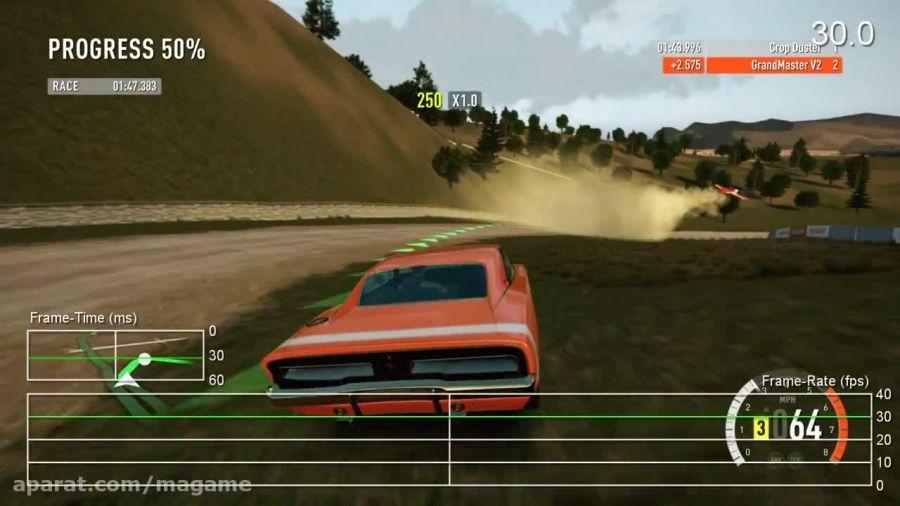 میزان فریم ریت بازی Forza Horizon 2 نسخه XBOX 360