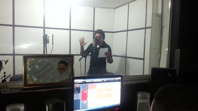 محسن مقیاسی در استدیو.ضبط آهنگ همه دنیامی