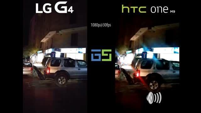 مقایسه کیفیت فیلمبرداری htc one M9 و LG G4 در شب