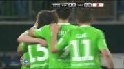 وولفسبورگ 2-0 هامبورگ - گل های بازی (بوندسلیگا آلمان)