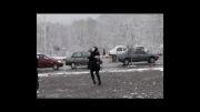 بارش نخستین برف زمستانی در گرگان در سال ۹۲