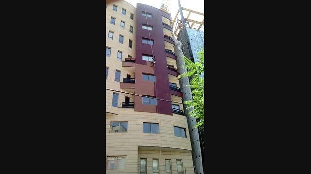 نقاشی نمای ساختمان از ارتفاع
