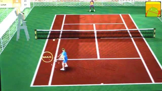 گیم پلی بازی اندرویدی Cross Court Tennis