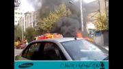 فیلم موبایلی حادثه آتش سوزی یک 206