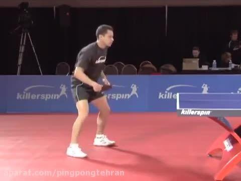 آموزش پینگ پنگ ، بک هند های-لوپ در تنیس روی میز