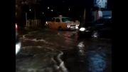 وضعیت آب گرفتگی خیابان های ساری (قبل از مدیریت آقای عبوری)