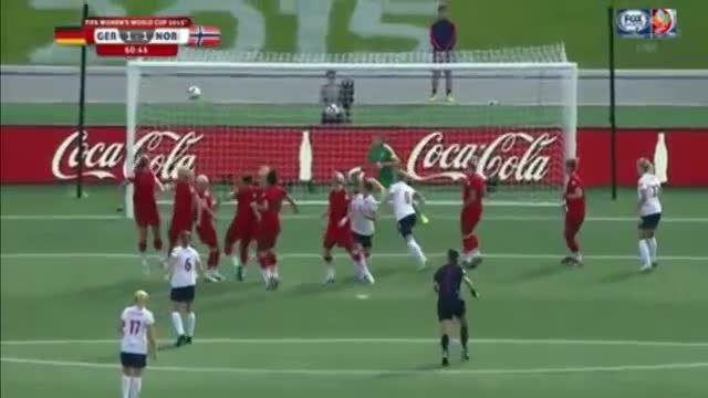 ضربه آزاد استثنایی و خاص در جام جهانی زنان 2015 کانادا