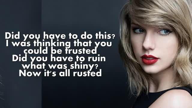 Taylor Swift Bad Blood (Lyrics)