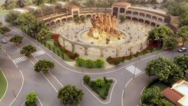 """انیمیشن معماری شهرک مسکونی """"پارک صخره ای"""""""