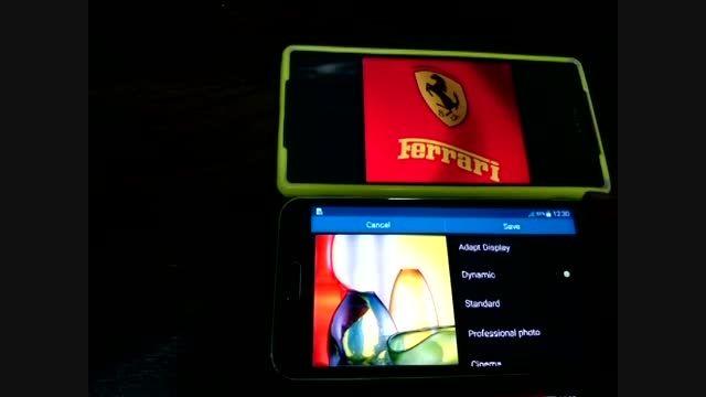 ویدئو مقایسه صفحه نمایش اکسپریا Z2 با گالکسی S5 قسمت 2
