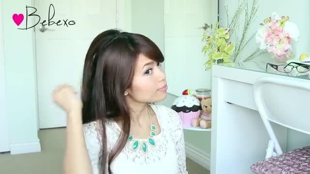 مدل شینیون مو ساده از ببکسو