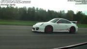 درگ فراری 458 و پورشه 911 RS 750 GT3
