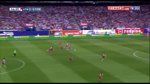 خلاصه بازی بارسلونا 2-1 اتلتیکو مادرید