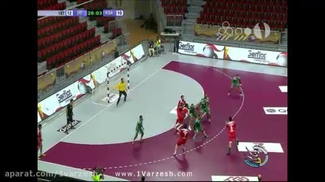 صعود تیم ملی هندبال ایران به مرحله نیمه نهایی