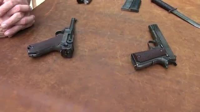 مقایسه اسلحه  کمری لوگار و اسلحه کمری 1911
