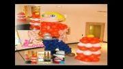 اشکال بادکنک و دکور بادکنک در جشن تولد ها و جشن های ادارات