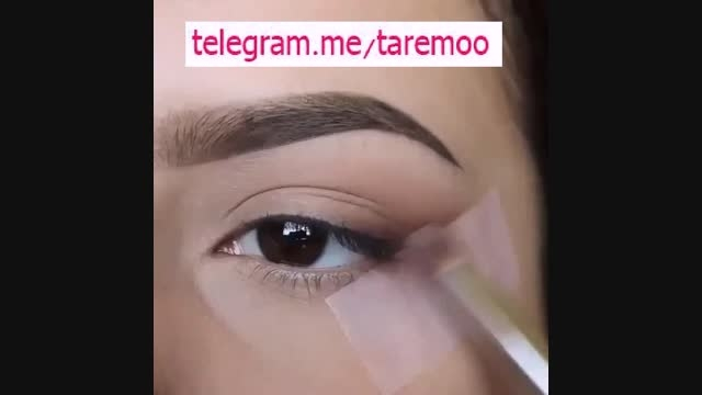 آرایش و خودآرایی چشم دخترانه شیک در تارمو