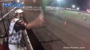 صحنه وحشتناک در مسابقات اتومبیل رانی