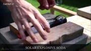 انفجار شیشه نوشابه زیر نور مستقیم خورشید(سایت چشمگیر)