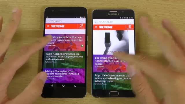 Nexus 6p vs Galaxy Note 5 - apps speed test