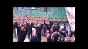 زنجیرزنی هیئت عزادار روستای ممشی در روستای کارمزد