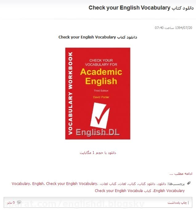 دانلود کتاب Check your English Vocabulary
