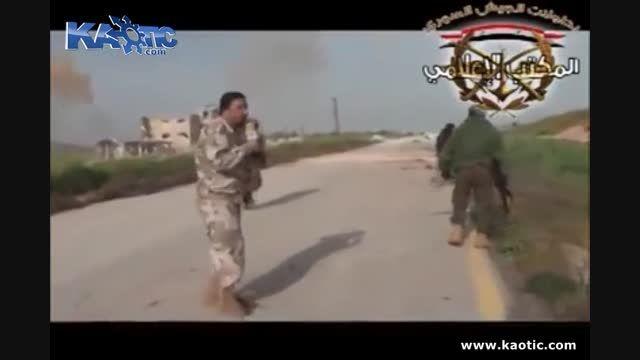 ترکیدن یک تروریست سوری و صدای جیغ دراوردندنش