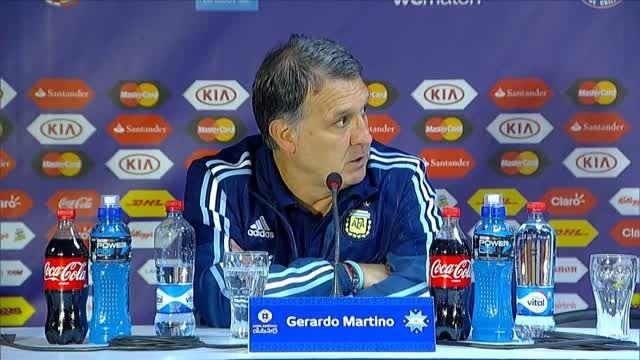 کنفرانس خبری جراردو مارتینو بعد از فینال کوپا آمریکا