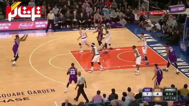 خلاصه بسکتبال : ساکرامنتو 124 - 86 نیویورک ( ویدیو )
