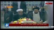 فوری/ آقای حسن روحانی به زیارت مرقد امام (ره) رفتند/ فیلم
