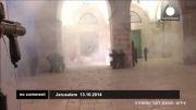 درگیری داخل مسجد الاقصی
