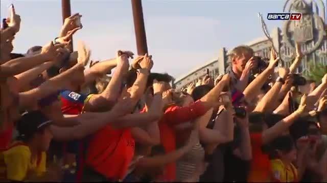 خوشحالی مردم کاتالونیا از قهرمانی بارسلونا در UCL