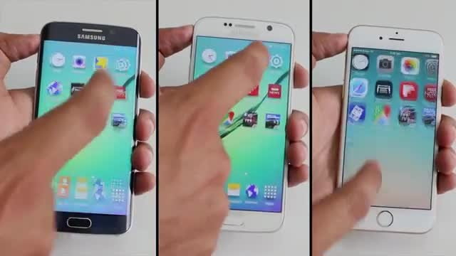 Galaxy S6 vs S6 Edge vs iPhone 6 _Apps Speed Test