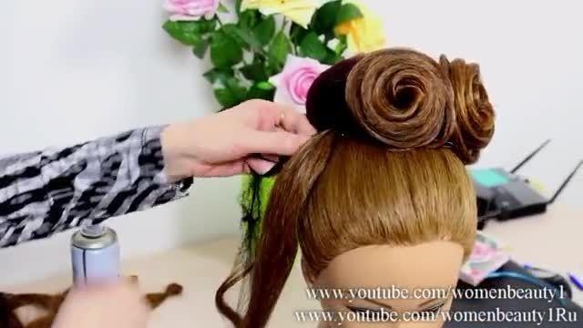 آموزش شینیون عروس