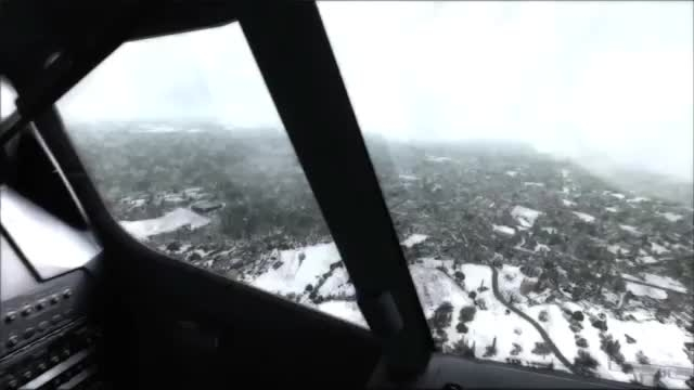 فرود در فرودگاه هلسینکی ،زمستان در شبیه ساز الماس