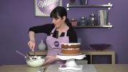 شادی / روکش کیک دایره با فوندانت