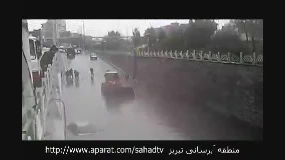 باز باران با ترانه باز زیرگذرهای تبریز با ناله !