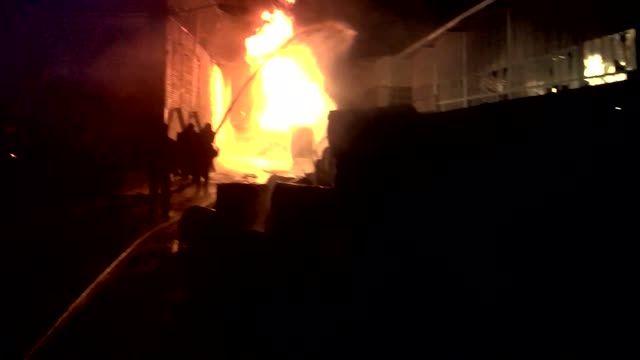 آتش سوزی در شهرک صنعتی شیراز