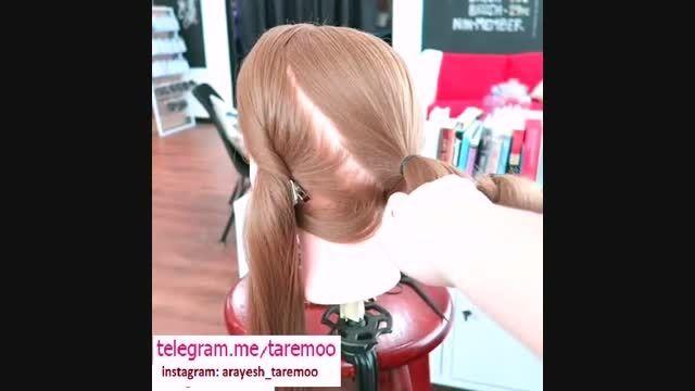 شینیون مو با بافت شیک در تارمو