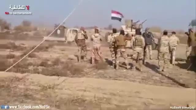 به غنیمت گرفتن سلاح های داعش توسط ارتش عراق