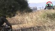 حلب-زدن فیلبردار تروریست ها توسط تک تیرانداز ارتش سوریه