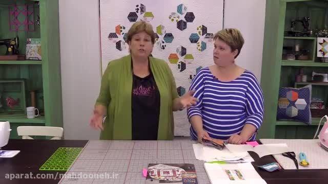 آموزش 22- چهل تکه دوزی با شش ضلعی ها خانم دوان
