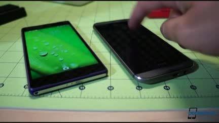 مقایسه ی گوشی htc one m8 با sony xperia z2