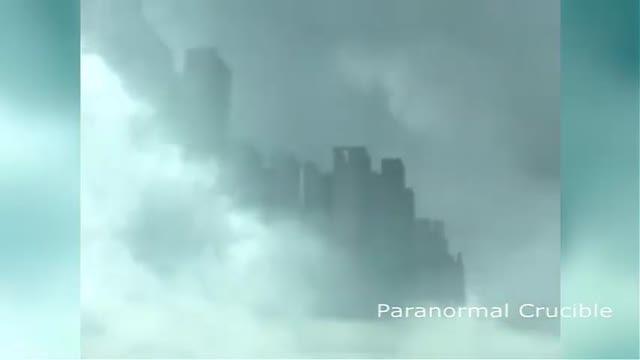 ظاهر شدن شهر اسرار آمیز در آسمان چین (جنجالی)