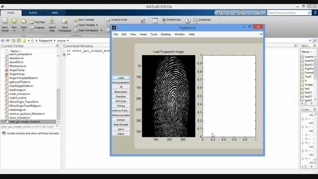 پروژه تشخیص اثر انگشت با MATLAB