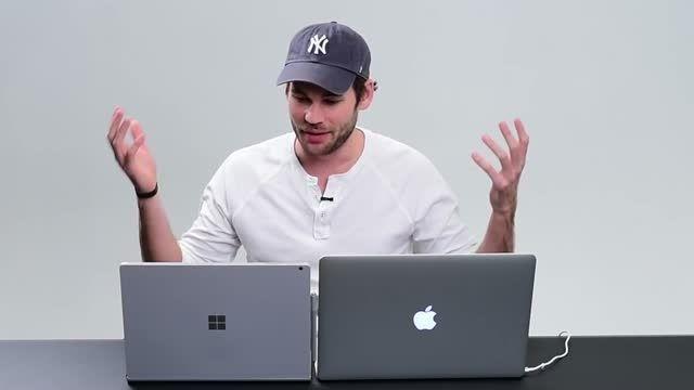 مقایسه سرفیس بوک مایکروسافت و مک بوک پرو ۱۵ اینچ